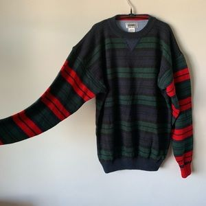 Vintage 90s grunge cobain plaid pullover sweater